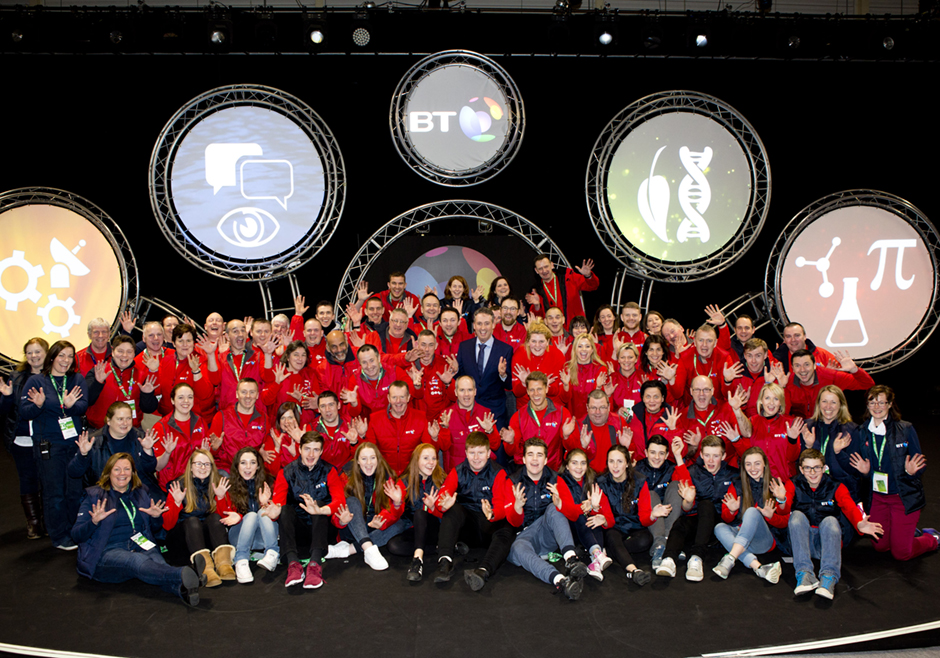 BT Young Scientist & Technology Exhibition 2016 red coats